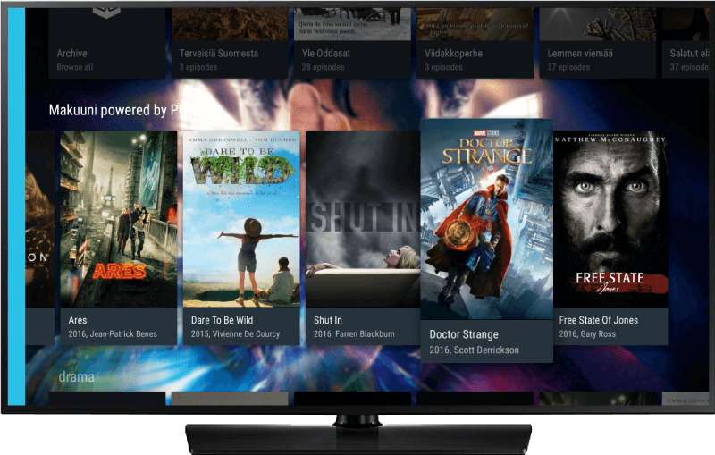 IPTV and OTT middleware on Android TV.