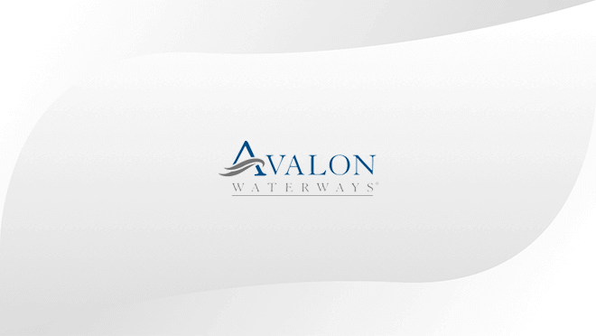 Avalon logo displayed on hospitality TV