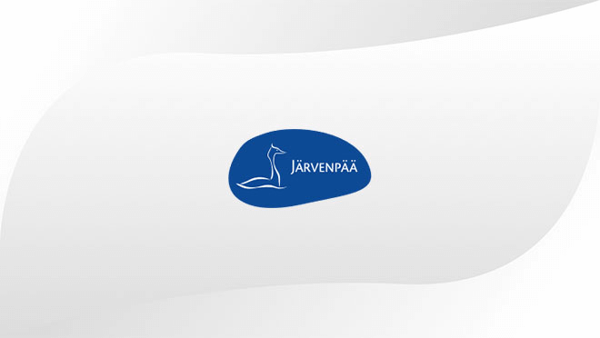 Järvenpää logo displayed on hospitality TV