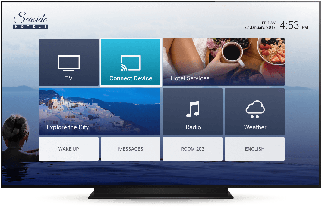 Televsion with Smartroom TV for Hotels